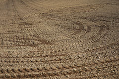 Soil preparation in Argiculture Royalty Free Stock Photography