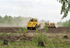 Soil preparation for sowing Stock Photos