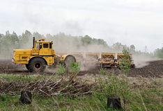 Soil preparation for sowing Stock Photo