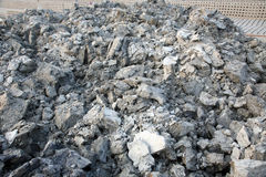 Soil for the production of bricks in brick factory in Sarberia, West Bengal, India Stock Photo