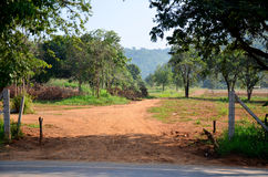 Soil road of countryside Royalty Free Stock Photography