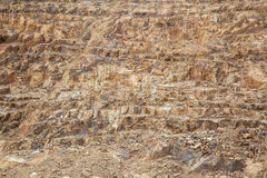 Soil and rock  layers in the world Royalty Free Stock Photos