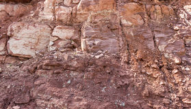 Soil and rock structure Stock Image