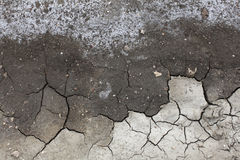 Soil salinity degradation, cracked ground Royalty Free Stock Images