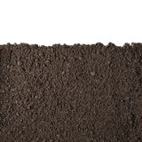 Soil section texture isolated on white Royalty Free Stock Photos