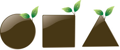 Soil shape leaf design Royalty Free Stock Photo