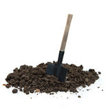 Soil and shovel Stock Photo