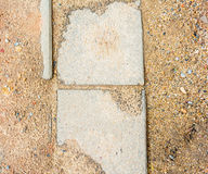Soil and sidewalk Royalty Free Stock Images