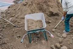 Soil and Site Preparation for Lawns Stock Images