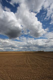 Soil and sky Royalty Free Stock Images