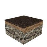 Soil slice Stock Photo
