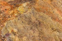 The soil on the slopes of the volcano Etna in Sicily stock photos