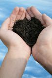 Soil test hand Royalty Free Stock Photography