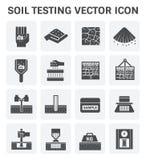 Soil test icon. Vector icon of soil and soil testing Royalty Free Stock Photo