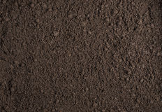 Soil texture background. Brown clean soil texture background Royalty Free Stock Photography