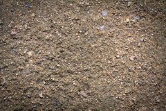 Soil texture or soil background with small sand stone for industrial construction concept design.  Royalty Free Stock Photography
