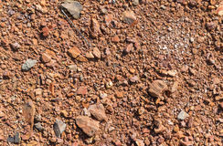 Soil texture, brown ground soil texture mixed with small rocks Royalty Free Stock Photography