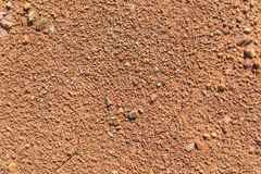 Soil texture, brown ground soil texture mixed with small rocks Royalty Free Stock Images