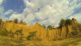 Soil textures (hom chom), Nan Thailand. The Tigers Pe (hom chom) movement of the crust in the Tertiary Period late (late tertian) attributed to erosion by wind stock video footage