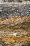 Soil under asphalt eroded Royalty Free Stock Photography
