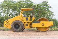 Soil vibration roller during Stock Photos