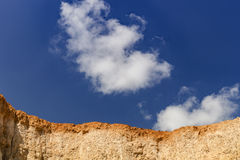 Soil Wall and Clear Sky Royalty Free Stock Images