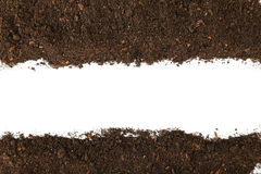 Soil. On the white background Royalty Free Stock Photos