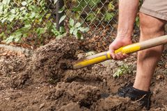 Soil work Stock Photography