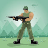 Soilder man he have gun Royalty Free Stock Photos