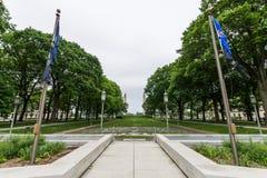 Soilders i żeglarzi pamiątkowi obok Capitol buduje teren obrazy royalty free