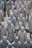 Soildersstandbeeld van het steenleger, Terracottaleger in Xian, China stock foto's