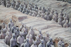 Soildersstandbeeld van het steenleger, Terracottaleger in Xian, China stock foto