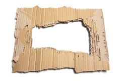 Soiled Cardboard with Hole Royalty Free Stock Image