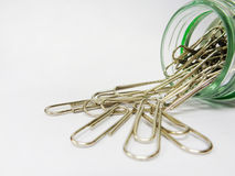Soiled paper clip. Bring to the picture Royalty Free Stock Photos