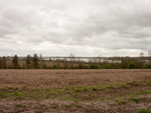Soily Field in the lush landscape of essex Stock Photos