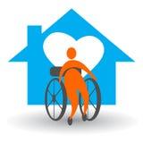 Soin à la maison handicapé Images stock