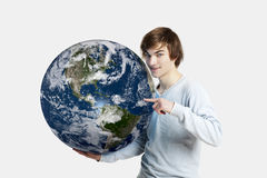 Soin au sujet de la planète Photos stock