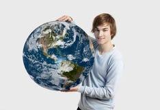 Soin au sujet de la planète Images stock