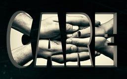 soin Concept avec le lettrage Photographie stock libre de droits