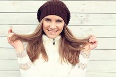 Soin de cheveu de l'hiver photos stock