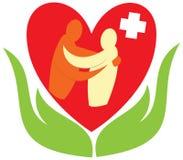 Soin de docteur et signe d'aide Image libre de droits