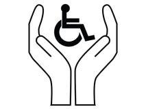 Soin de handicapés Images stock