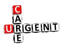 soin de mots croisé du rendu 3D Word urgent au-dessus du fond blanc illustration de vecteur