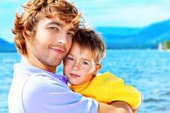 Soin de pères Photographie stock libre de droits
