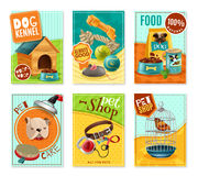 Soin des animaux familiers 6 Mini Banners Set Photo libre de droits