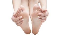 Soin femelle de corps de pied image libre de droits
