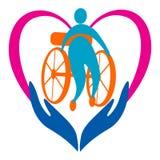 Soin handicapé Images libres de droits