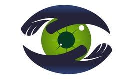 Soin Logo Design Template d'oeil Photographie stock