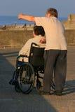 Soins de l'handicapé Photographie stock