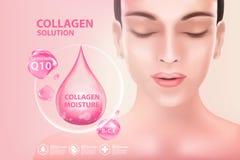 Soins de la peau de cosmétique de sérum de collagène Images stock
